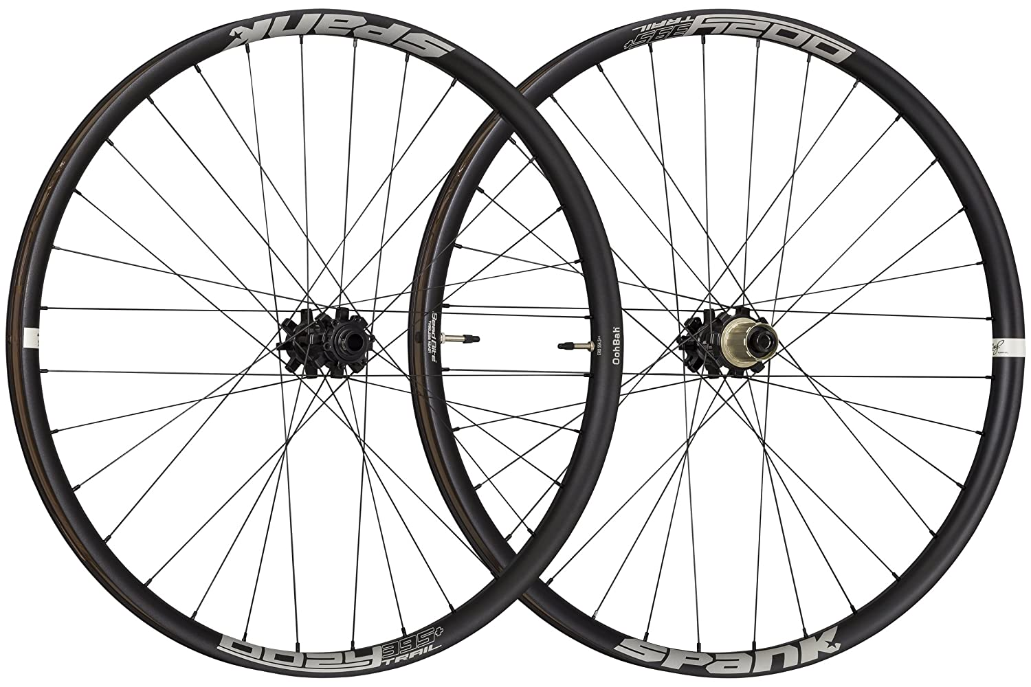 Spank Oozy Trail 395+ 27.5  (650B) 32H 15x110 12x148mm Boost MTB Wheelset Black
