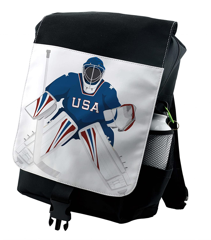 Amazon Com Lunarable Sports Backpack Usa Hockey Goalie Protection
