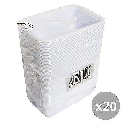 Set 20 bandejas plástico * 50 piezas 90 x 125 x 45 mm. recipientes para