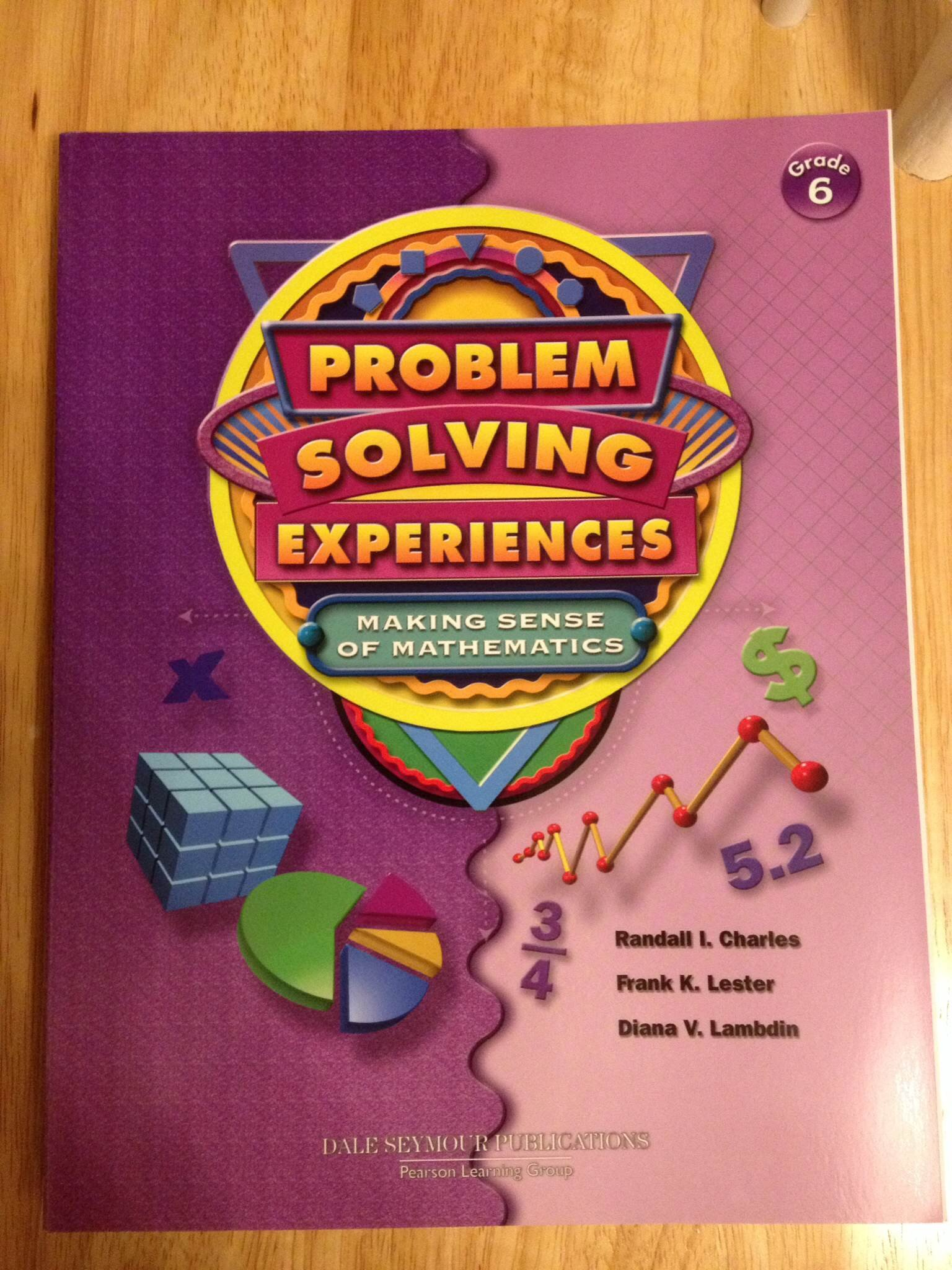 Download Problem Solving Experiences - Making Sense of Mathematics - Grade 6 Student Workbook ebook