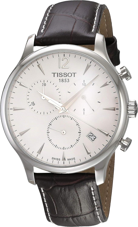 Tissot T0636171603700 - Reloj analógico de caballero de cuarzo con correa de piel marrón