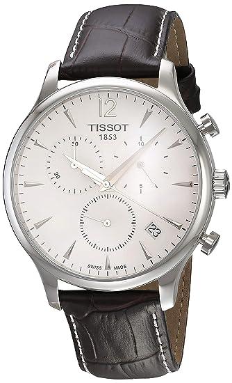 Tissot T0636171603700 - Reloj analógico de caballero de cuarzo con correa de piel marrón: Tissot: Amazon.es: Relojes