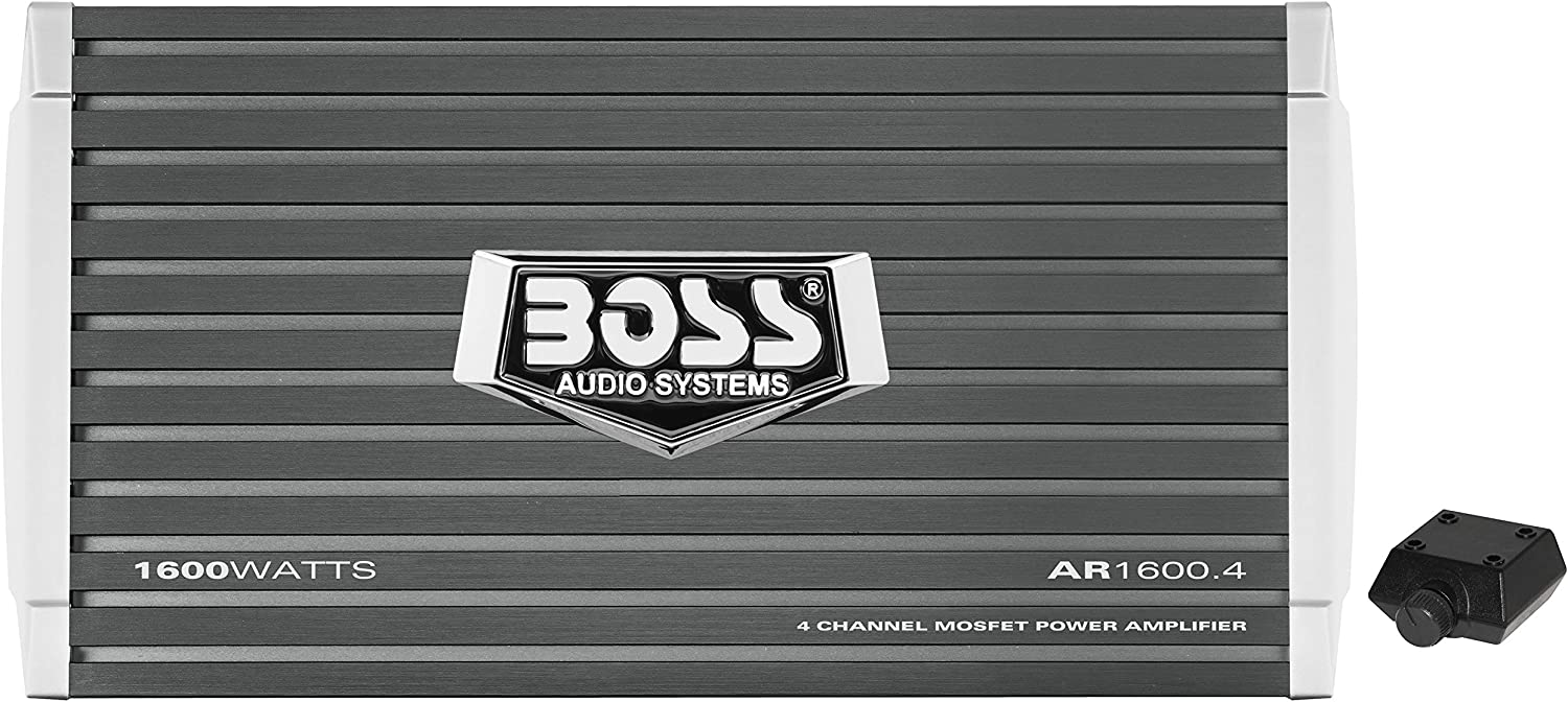Amazon.com: BOSS Audio Systems AR1600.4 4 Channel Car Amplifier - 1600  Watts, Full Range, Class A/B, 2-4 Ohm Stable, Mofet Power Supply,  Bridgeable: Car ElectronicsAmazon.com