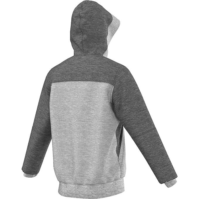 cfaff471f621 Amazon.com  Adidas Mens Real Madrid FC Training Hooded Sweatshirt Medium Grey  Heather AA6880 Size 2X-Large  Sports   Outdoors
