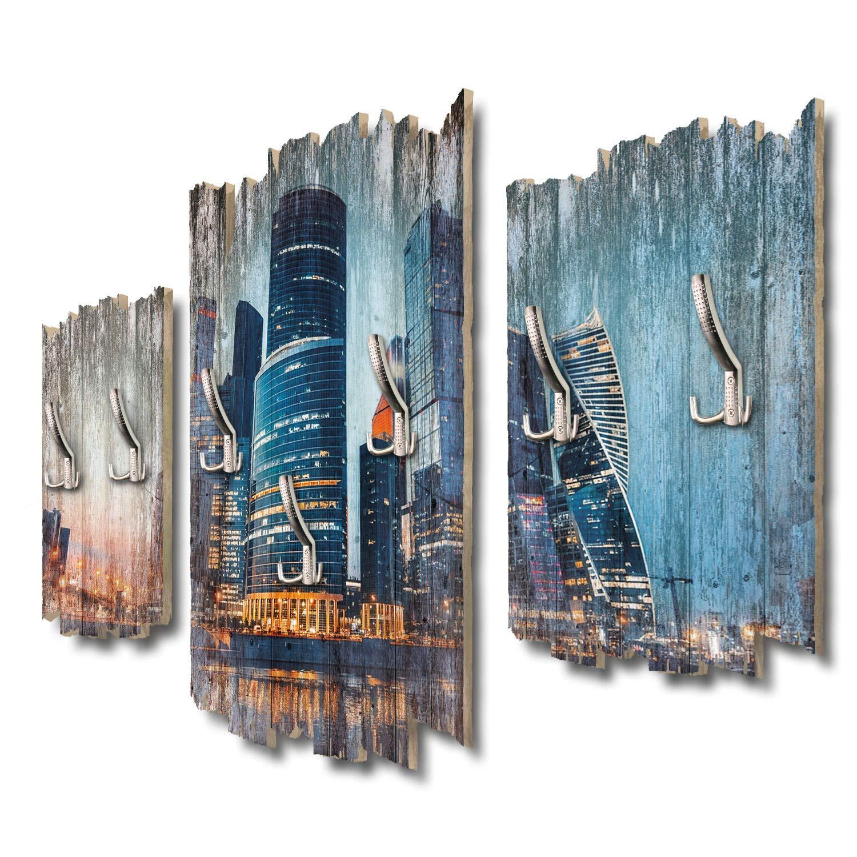 Kreative Feder Modernes Moskau Designer Wandgarderobe Flurgarderobe Wandpaneele 95 x 60 cm aus MDF DTGH079