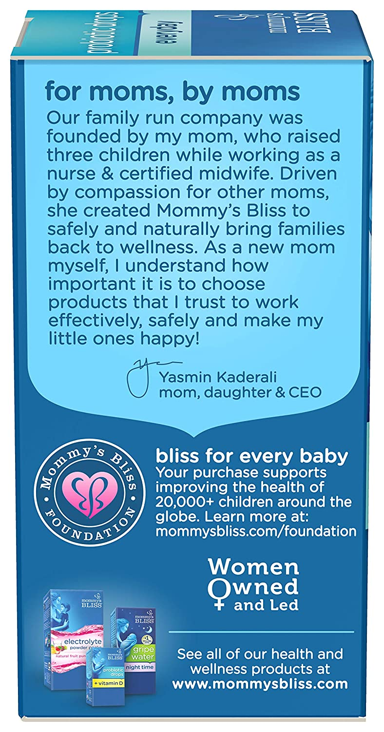 Mommy's Bliss Baby Probiotic Drops Everyday - Gas, Constipation, Colic  Symptom Relief -