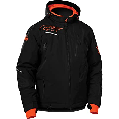 Castle X Rival Mens Snowmobile Jacket - Black/Orange (XLG)