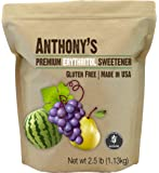 Erythritol Granules (2.5lbs) by Anthony's, Made in the USA, Non-GMO, Natural Sweetener