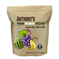 Erythritol Granules (2.5lbs/1.13kg) by Anthony's, Made in the USA, Non-GMO, Natural Sweetener