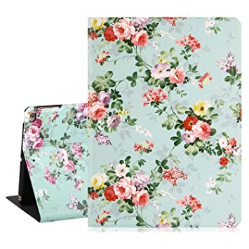 438db35b8f32e2 iPad 9.7 Case 2018 Floral iPad Air 2 Cases Pink Roses Flowers Girly Leather  Slim Lightweight