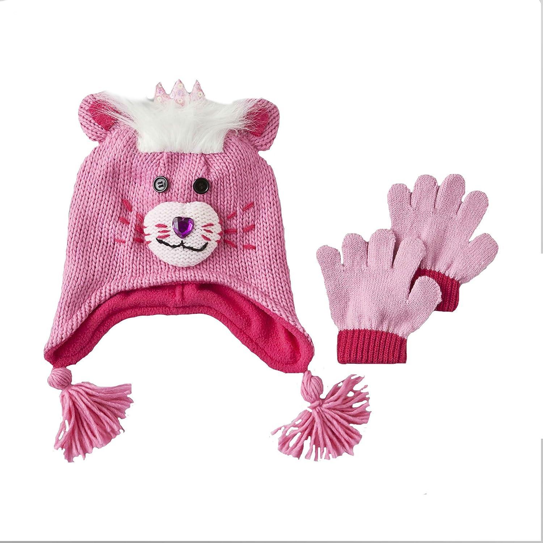 Amazon.com: Toby N.Y.C. niña gorro de invierno para manoplas ...