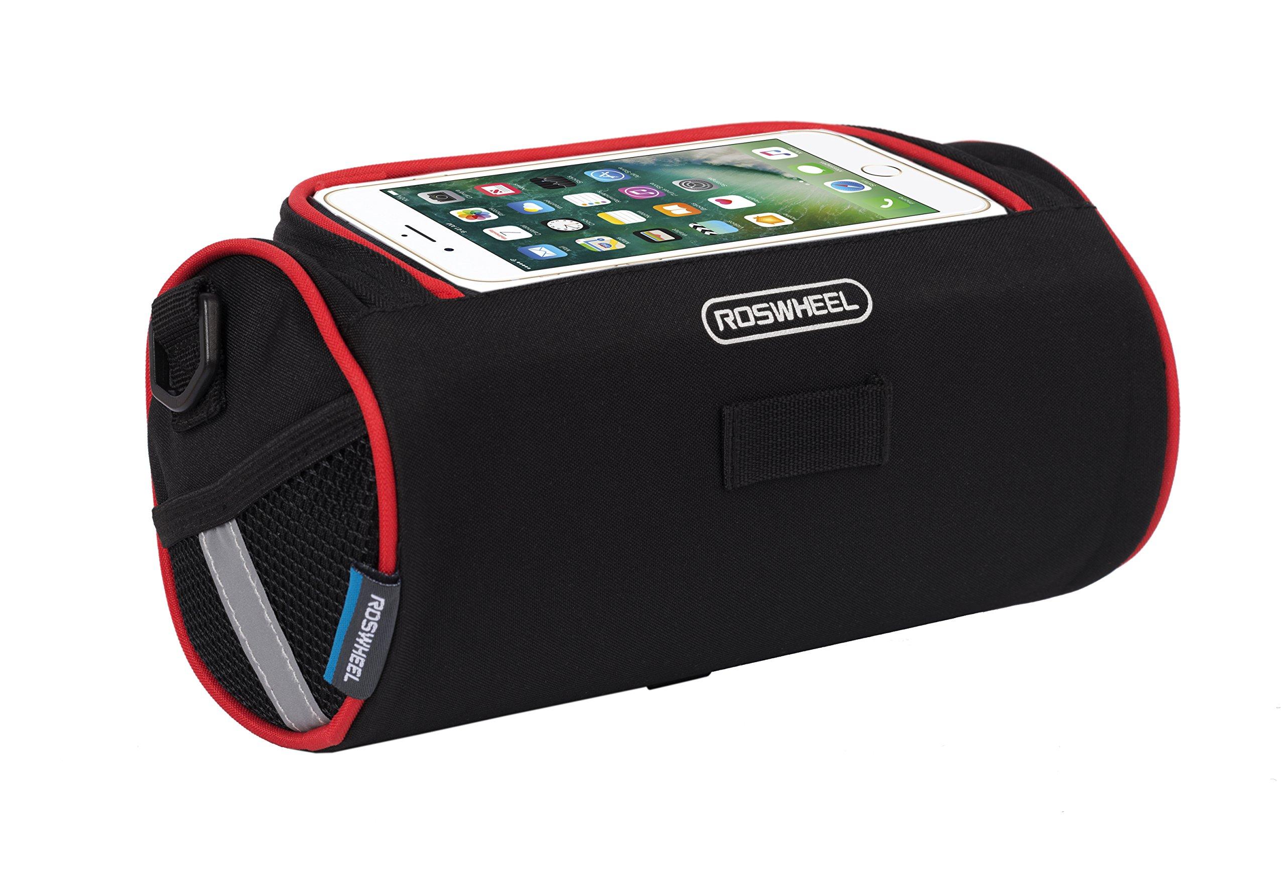Roswheel 11887 3.5 liters Capacity Bike Bicycle Handlebar Bag with Phone or Map Holder