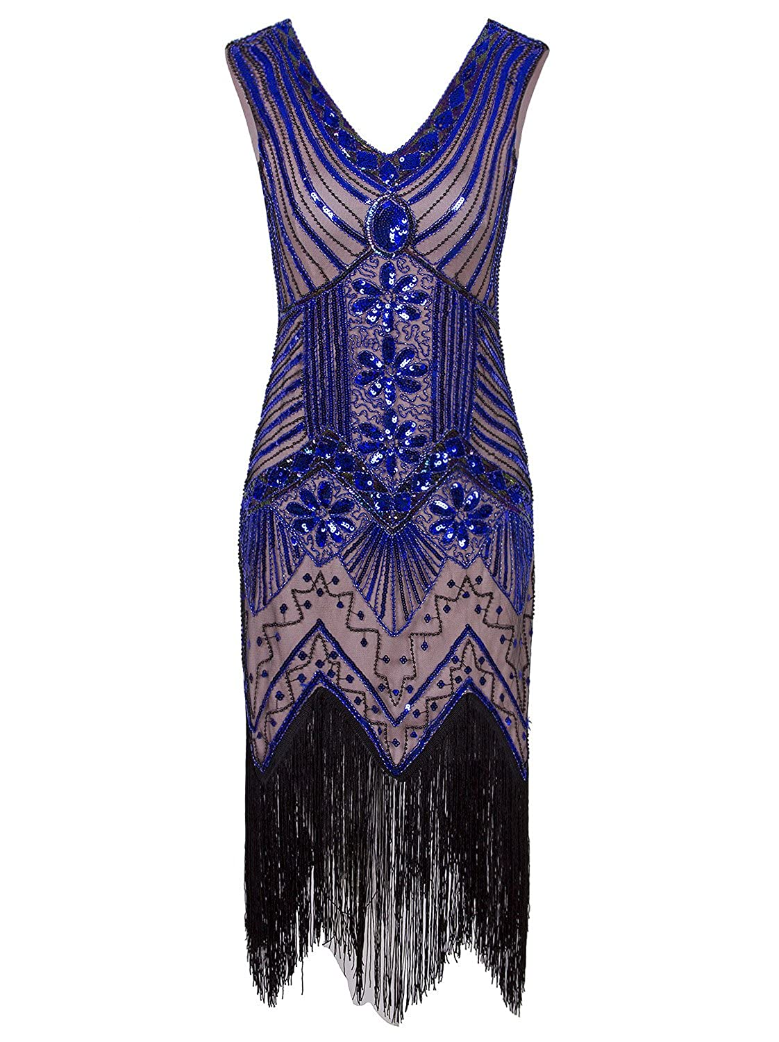 09fdd17fe8b2 A unique and exquisite beads and sequins embellished flapper dress, perfect  for Great Gatsby Parties, Weddings, Proms or any Special Occasion!