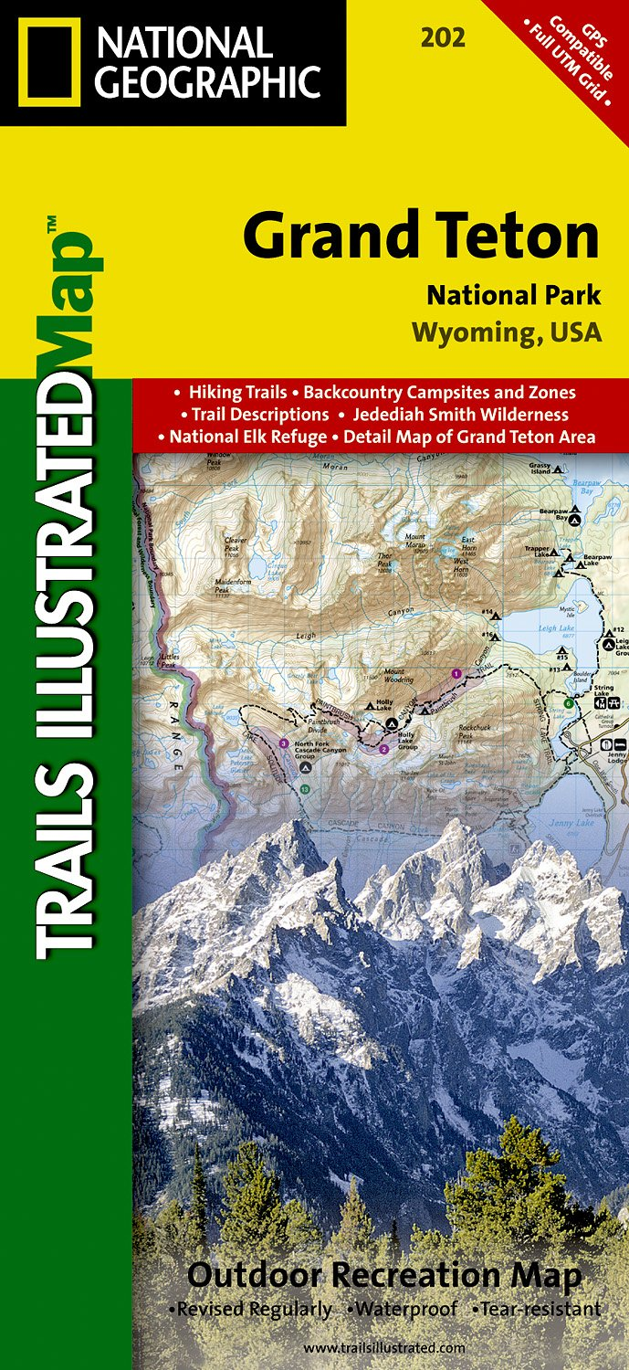Grand Teton National Park Trails Illustrated Map 202 National