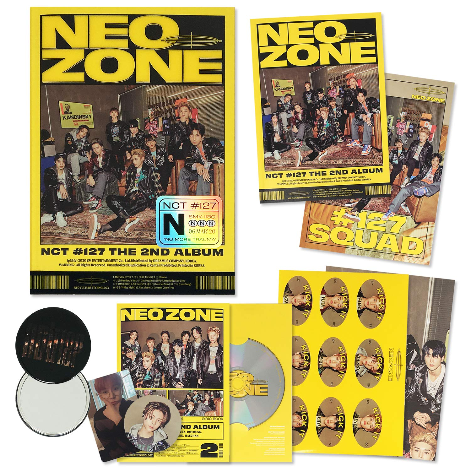 NCT #127 NEO ZONE 2nd Album Random or SET CD+Photocard+Postcard+Poster+2Gift New
