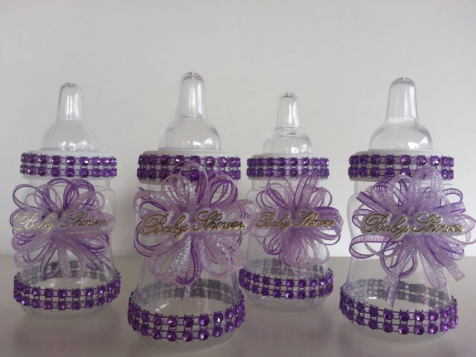 12 Purple Fillable Bottles for Baby Shower Favors Prizes or Game Girl Decoration by Product789
