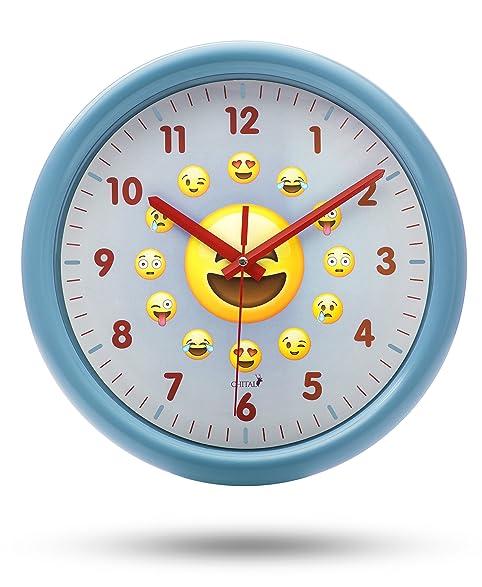 Amazon chital emoji wall clock adorable wall clock for kids chital emoji wall clock adorable wall clock for kids large 115 inch wall fandeluxe Choice Image
