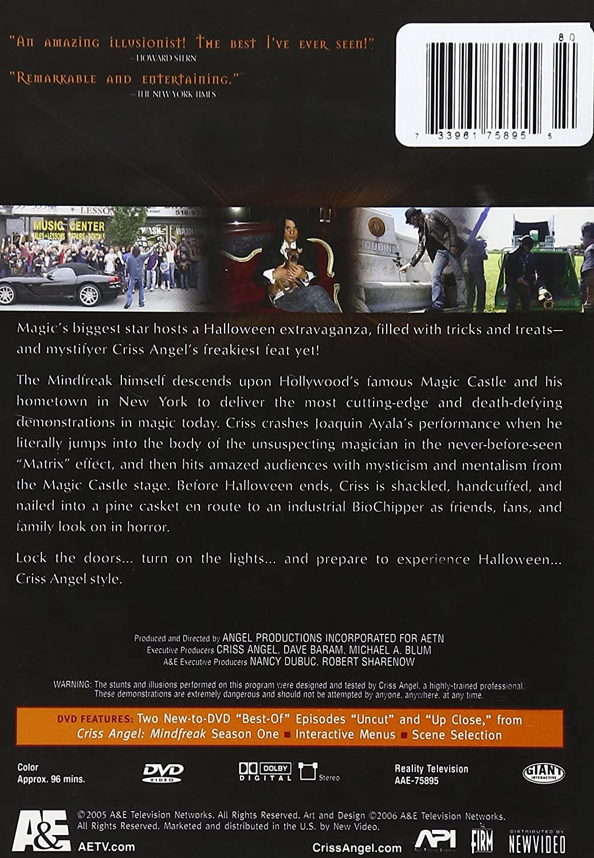 Amazon.com: Criss Angel Mindfreak - Halloween Special: Criss Angel, Andrew  Gerard Henderson, Banachek, Luigi Francis Shorty Rossi, Johnny Thompson, ...