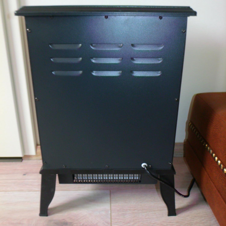 Eurosell Retro Estufa Eléctrica Chimenea con Termoventilador 2000 W/1000 W potencia de calentamiento Simulación Chimenea Nostalgie Diseño Vintage estilo ...