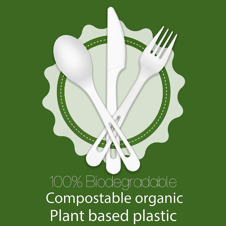 Utensilios biodegradables 350 cubiertos ecológicos desechables ...
