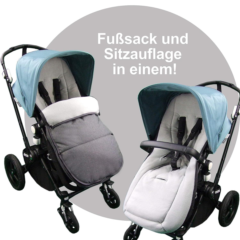Bambiniwelt Fußsack Winterfußsack Für Bugaboo Kinderwagen Universal Sitzauflage Mit Fleece Mod K Bordeaux Baby