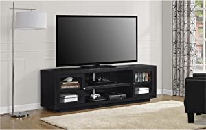 Ameriwood Home Bailey TV Stand, Black Oak