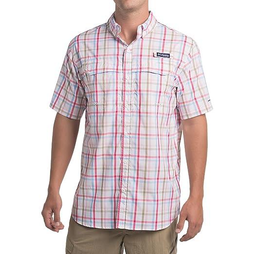 236666d881a Columbia Men's Super Low Drag Short Sleeve Shirt, Small, Cupid Open Check