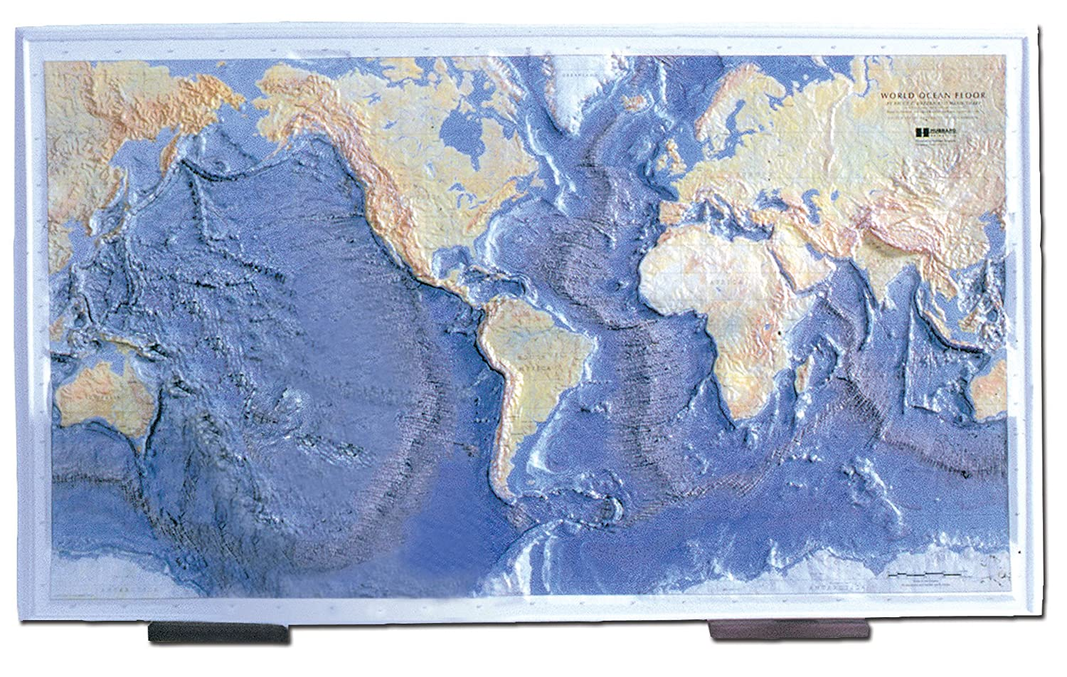 Amazoncom Hubbard Scientific Ocean Floor Raised Relief Map - Us raised relief topographical map