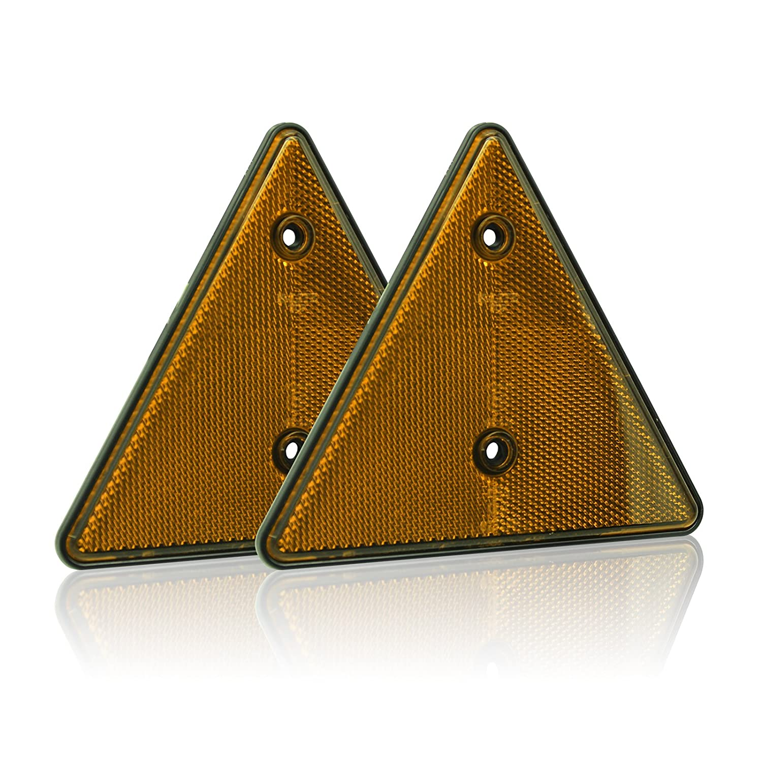 BSK 6 Red Triangle Warning Reflectors for Container Truck Van Trailer Pack 2