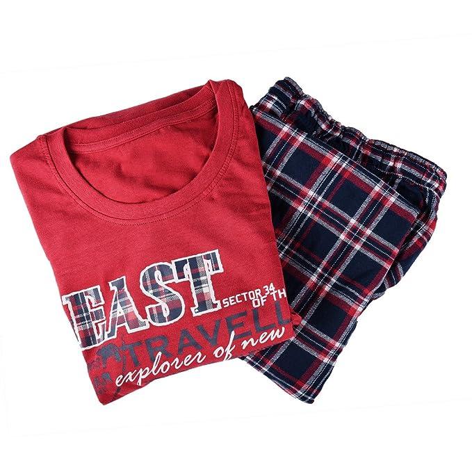 Pijama de franela para hombre, en muchos colores y tallas rojo M