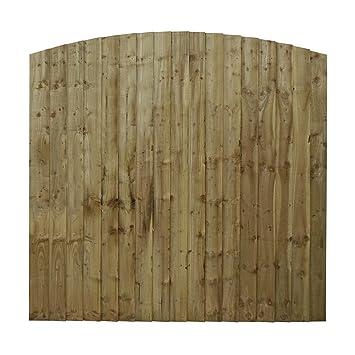 1,8 x 1,8 m Waltons en bois vertical Feather Edge incurvé ...