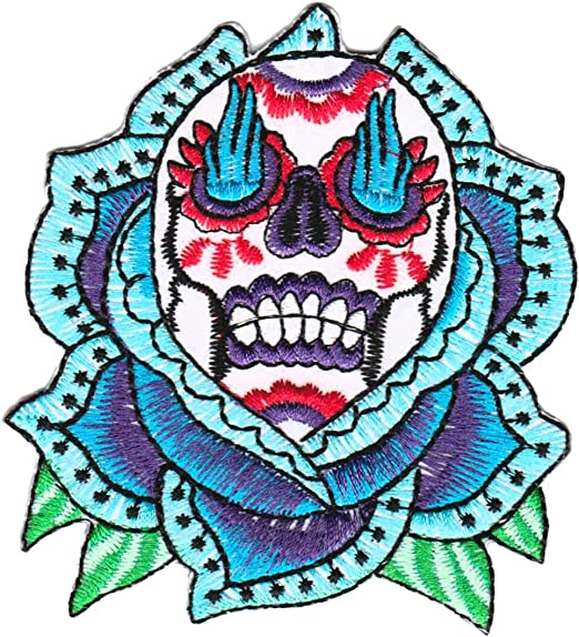 Paisley Skull with Rhinestones Ladies  4 INCH PATCH