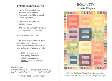 Amazon Equality Quilt Equality Symbol Equality Sign