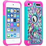 Wydan Compatible iPod Touch Case, Studded Hybrid Bling Diamond Shockproof Cover for Girls Kids - iPod Touch 7th, 6th…