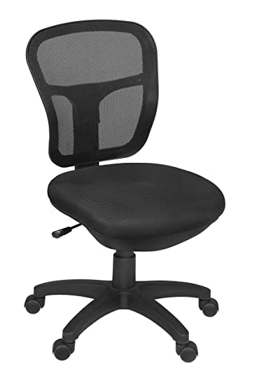 Amazon Com Harrison Armless Swivel Chair Black Kitchen Dining