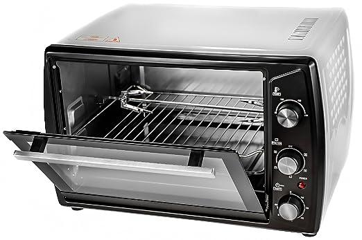 Horno 42 L, 1800 W, con ventilador y horno Mini horno 230 °C con ...