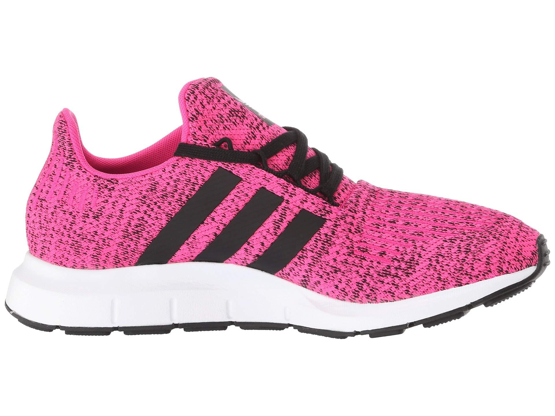 adidas Originals Kids Girl's Swift Run J (Big Kid) Shock Pink/Black 4.5 M US Big Kid by adidas Originals (Image #8)