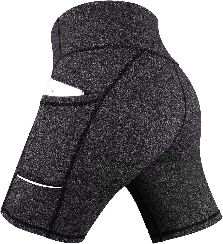 High Waist Workout Pants Non See-Through Fabric Running 4 Way Stretch Tummy Control GRAT.UNIC Women Sports Shorts Shapewear Leggings Yoga Shorts with pockets