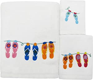 Allure Home Creations Sun and Sand Towel Set, 3-Piece
