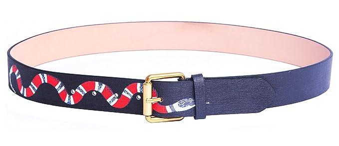 cf0bee5b237 Yuangu Men s Coral Snake Print 38-mm Italian Leather Belt (105cm 41.3inch