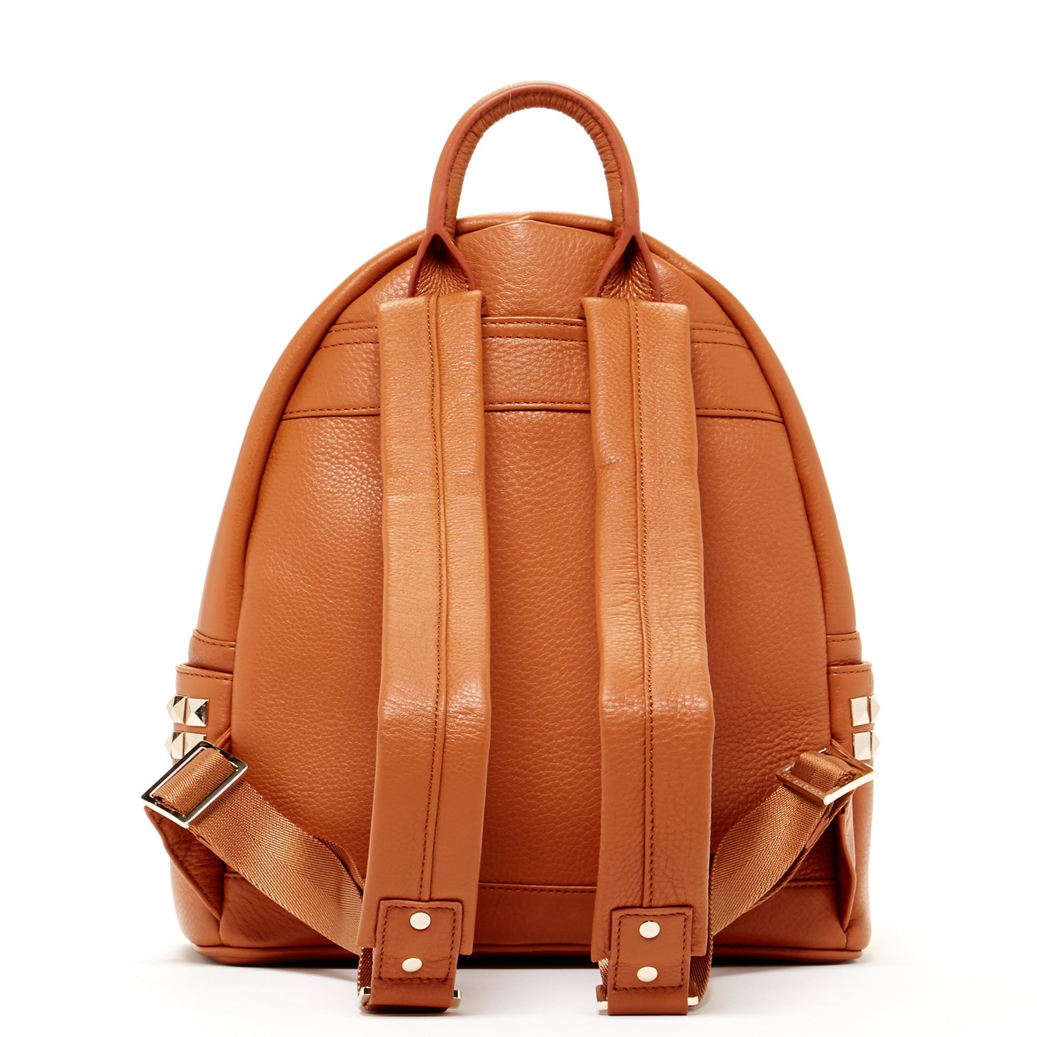 SUSU Brown Pebble Leather Backpack Bags For Women Cute Designer Handbags With Studs and Front Pocket Travel Fashion Backpacks Purses With Side Pockets Quality Rucksack Girlfriend or Wife Birthday Gift by SUSU (Image #3)