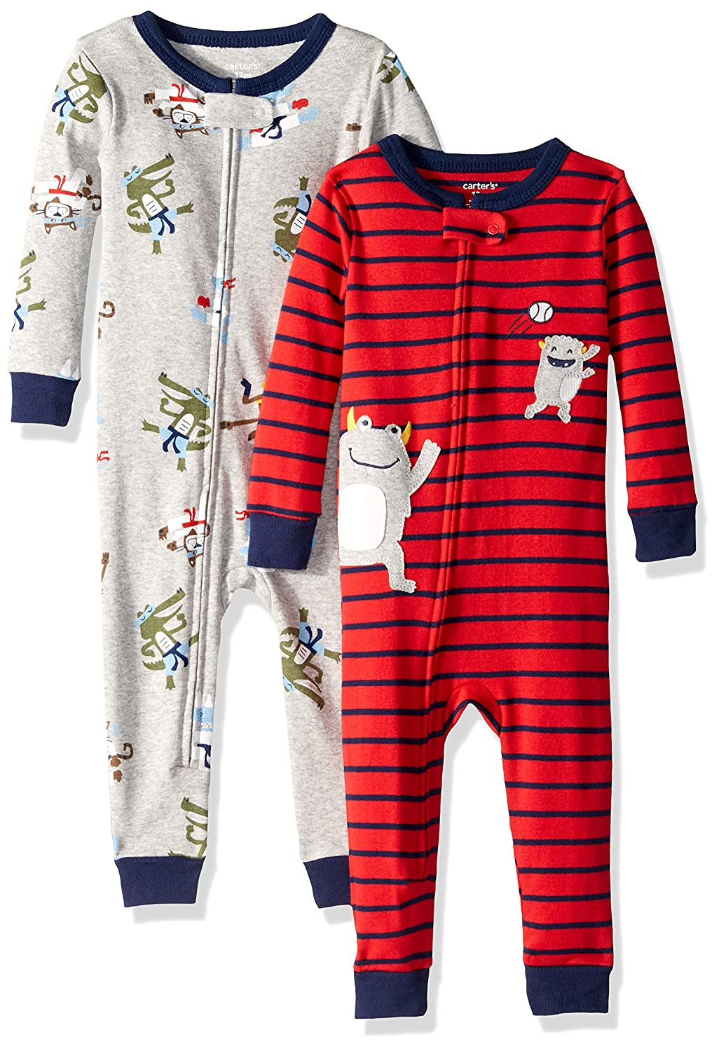 f3842c64c Amazon.com  Carter s Baby Boys  2-Pack Cotton Footless Pajamas  Clothing