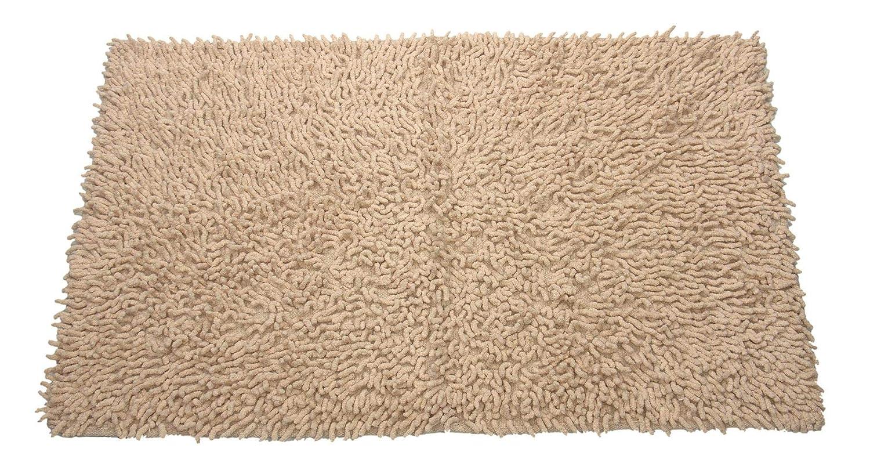 material de algod/ón Entrada de ba/ño y alfombra de cocina pila corta cabezal de ducha suave Dimensiones 50x80 cm azul 50x80 cm