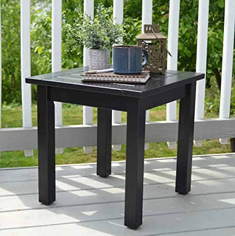 amazon com outdoor side table solid