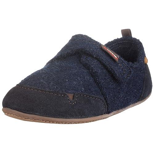 Living Kitzbühel Slipper Klett. u. Gumminoppe 1654 - Zapatos para niños, color marrón, talla 28