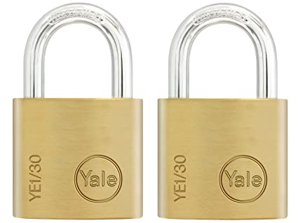 Yale Locks YALYE1302PK - Pack de 2 cerraduras (30 mm, latón)