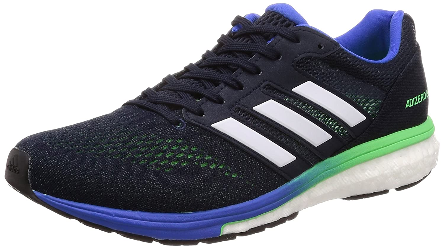 Adidas Adizero Boston 7 M, Zapatillas de Running para Hombre 42 EU|Azul (Legend Ink F17/Shock Lime F18/Hi-res Blue S18)