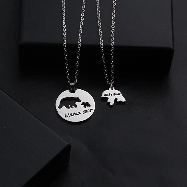 d5aa05859e3 Mama Bear and Baby Bear Necklace Set Mother Daughter Necklace Mom Jewelry. Zuo  Bao ...