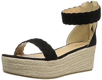 676266011f9 Qupid Women's Benson-02 Espadrille Wedge Sandal
