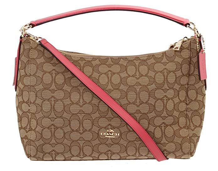 ... bag 8e716 f6649 spain coach east west celeste convertible hobo in  outline signature f58284 imitation gold khaki strawberry amazon ... b8dfb991589d4